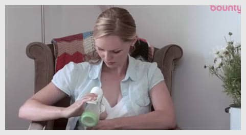 step2-of-Using-a-manual-breast-pump