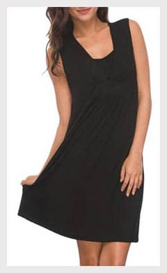 Layered_V-neck_Nursing_Dress