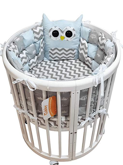 This Cubby Baby Nursery Crib Bedding Set comes with astounding features and the right bedding-mattress-bumper set