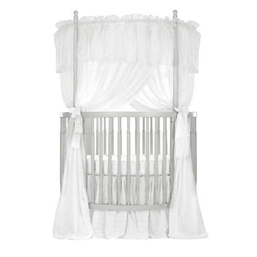 This DreamOnMe silver pearl circular crib delivers awe-inspiring elegance giving any nursery a clean-cut, homey-comfy feel--without causing a huge dent to your budget