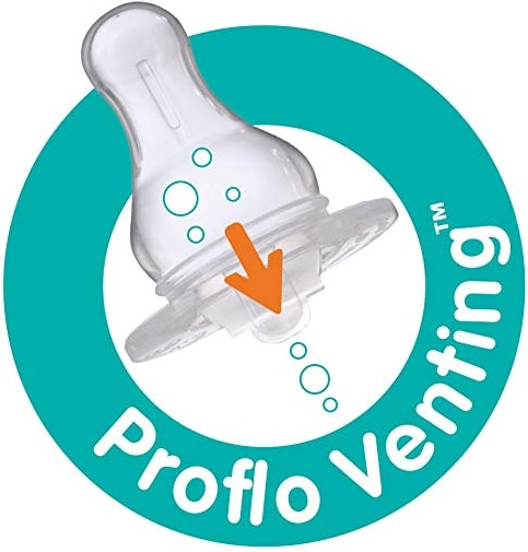 Evenflo Feeding Glass Premium Proflo Vented Plus Bottles is made of tempered glass featuring unique Proflo Venting Technology for leak-proof and colic-free feeding