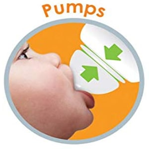 The Munchkin Latch BPA-Free Baby Bottle is equipped with an anti-colic valve to prevent air from seeping into the milk