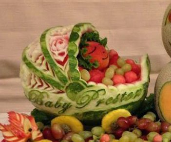 watermelon-carriage-for-baby-shower