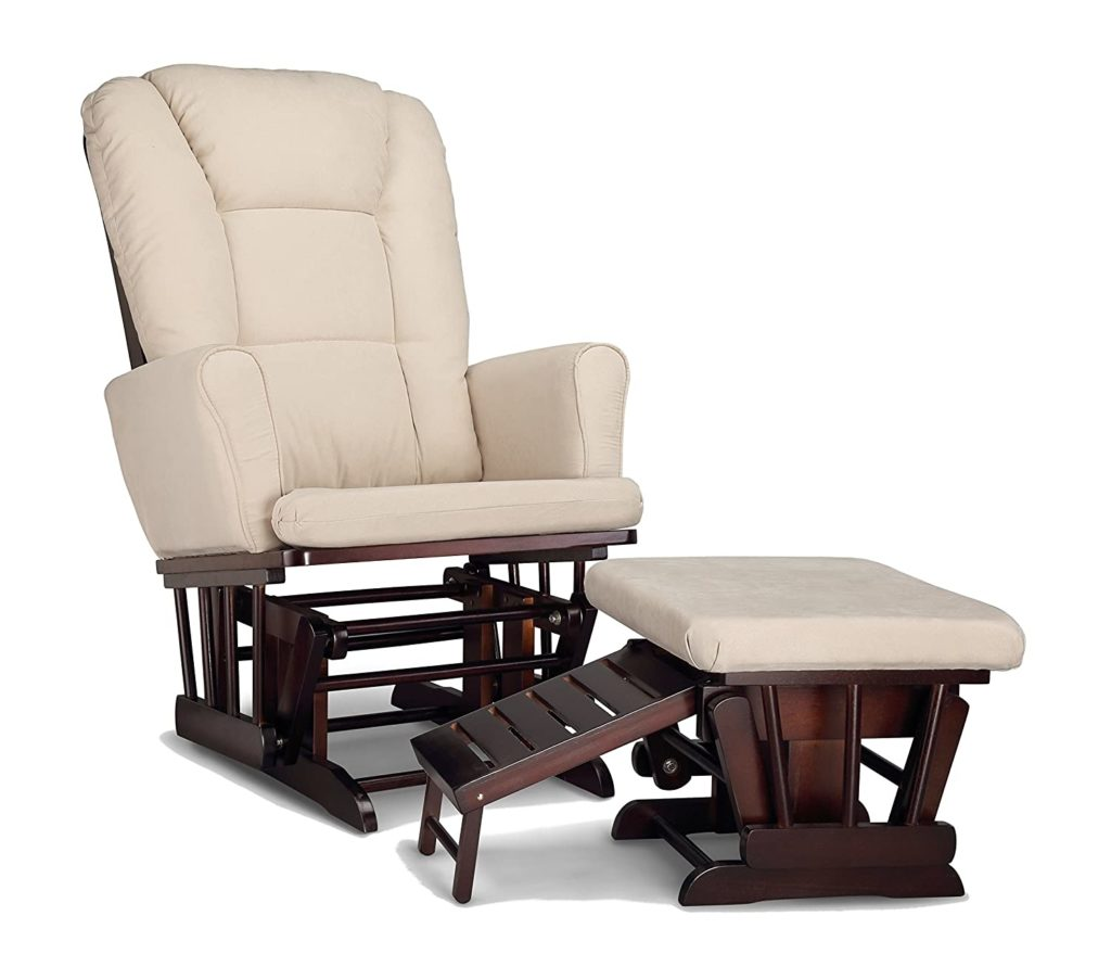 Graco Semi-Upholstered Glider and Nursing Chair With Ottoman